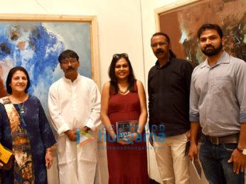 Vindu Dara Singh graces Uttam Chapte's 'Indelible Mark' art exhibition