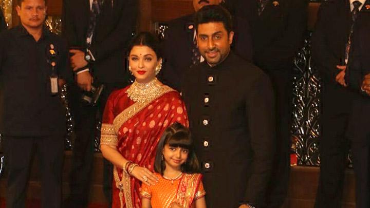 Aishwarya Rai Bachchan, Abhishek Bachchan and Aaradhya Bachchan grace the  grand wedding of Isha Ambani – Anand Piramal