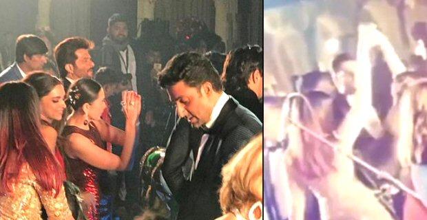 Aishwarya Rai Bachchan and Karisma Kapoor DANCE TOGETHER at the Isha Ambani - Anand Piramal's wedding celebration