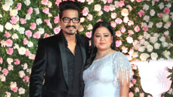 Comedian Bharti Singh with her Husband at Kapil Sharma Wedding Reception Mumbai