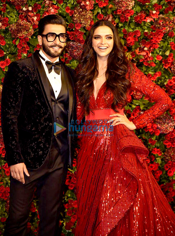 Deepika Padukone and Ranveer Singh grace their Mumbai reception
