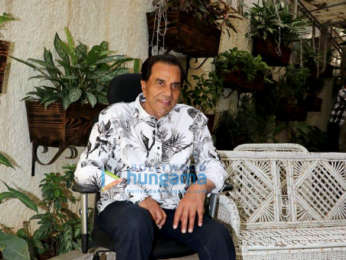 Dharmendra snapped on his birthday at Sunny Super Sound in Juhu