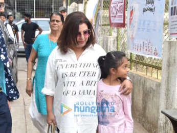 Farah Khan and Krishna Shroff at St Teresa Boys School for World Pet Adoption 2018