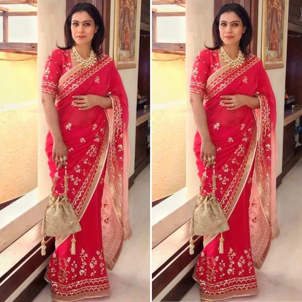 Kajol in Devnaagri for a wedding (1)