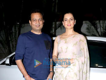 Kangana Ranaut and Kamal Jain spotted at Manikarnika promotions