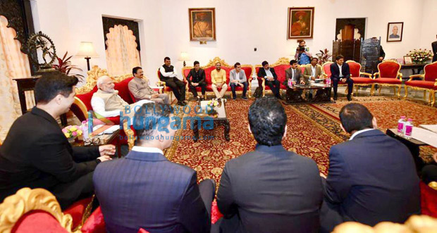 Karan Johar, Akshay Kumar, Ajay Devgn, Mahaveer Jain and others meet PM Narendra Modi to discuss issues concerning the industry