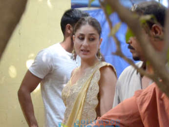 Kareena Kapoor Khan snapped during an ad shoot in Bandra