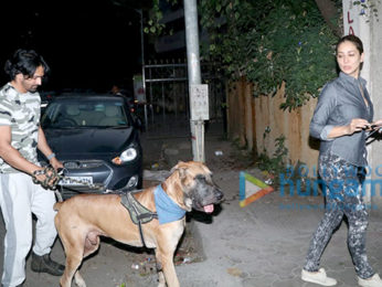 Kim Sharma and Harshvardhan Rane snapped in Bandra