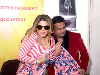 Rakhi Sawant and Deepak Kalal snapped during their wedding press meet