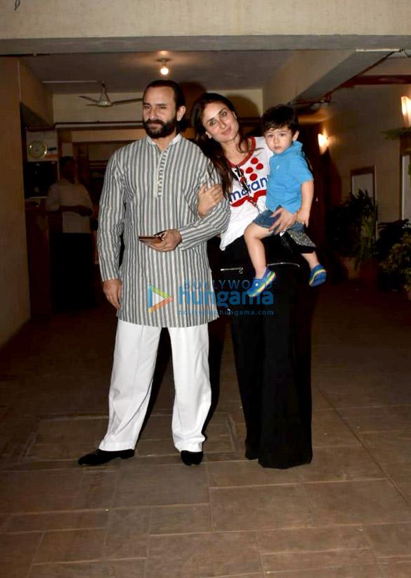 Saif Ali Khan, Kareena Kapoor Khan, Soha Ali Khan and others at Taimur Ali Khan's birthday party in Bandra (1)
