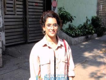 Sanya Malhotra spotted in Bandra