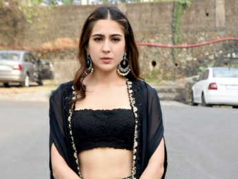 Sara Ali Khan snapped at the Reliance Studio for Kedarnath promotions