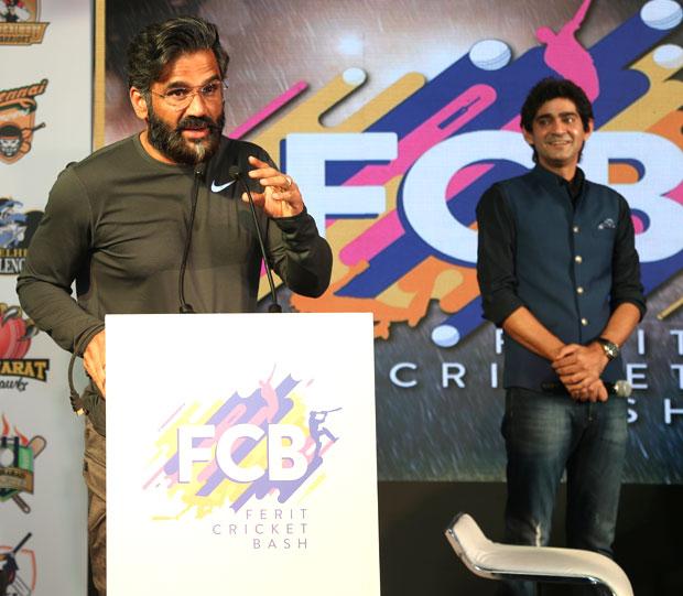 Suniel Shetty and Zaheer Khan join hands to launch Ferit Cricket Bash
