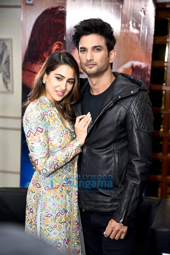 Sushant Singh Rajput and Sara Ali Khan snapped during 'Kedarnath' promotions in Mumbai