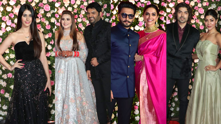 UNCUT Kapil Sharma Grand Wedding Reception with many Celebs Ranveer-Deepika, Warina Hussain