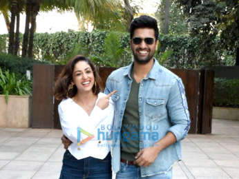 Yami Gautam and Vicky Kaushal snapped during Uri promotions