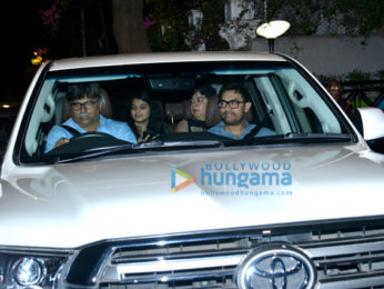 Aamir Khan snapped with his first wife in Bandra