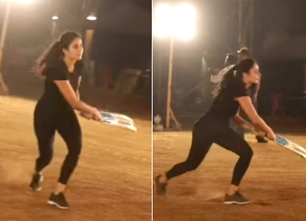 After Salman Khan, Katrina Kaif showcases her BATTING SKILLS on the sets of Bharat, asks Anushka Sharma to put in a good word with Virat Kohli
