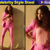 Celebrity Inspired Style - Ankita Lokhande in Cover Story pink pantsuit (Featured)