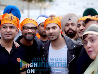 Bhushan Kumar, Remo DSouza, Varun Dhawan and Lizelle Dsouza snapped at the Golden Temple, Amritsar