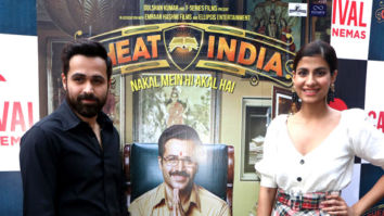 Emraan Hashmi and Shreya Dhanwanthary promote 'Why Cheat india' at Carnival Cinemas in Mumbai