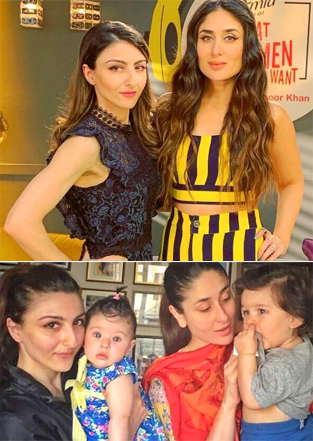 Kareena Kapoor Khan and Soha Ali Khan get SCOLDED by their husbands with regards to Taimur and Inaaya