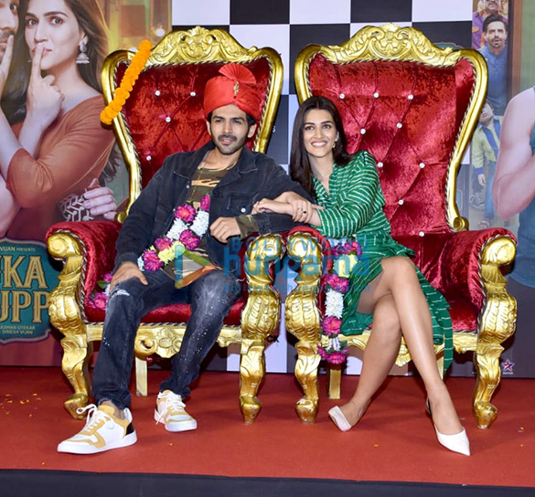 Kartik Aaryan, Kriti Sanon, Pankaj Tripathi and others grace the trailer launch of 'Luka Chuppi'2 (1)