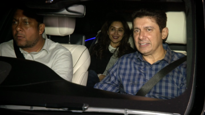 Madhuri Dixit with Family Spotted at Sushant Singh Rajput's House, Bandra