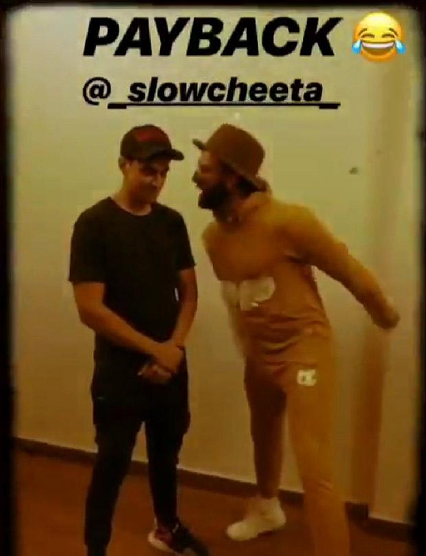 Ranveer Singh breaks into 'Mere Gully Boy', goes on a rap battle with rapper Slow Cheeta in hilarious video