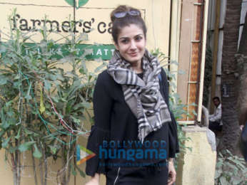 Raveena Tandon snapped at Farmers' Cafe in Bandra