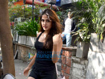 Rhea Chakraborty spotted at the Kitchen Garden in Bandra