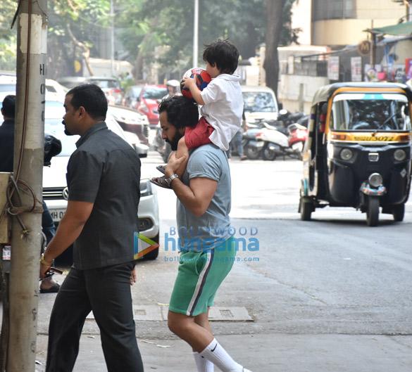 Saif Ali Khan and Taimur Ali Khan snapped in Bandra