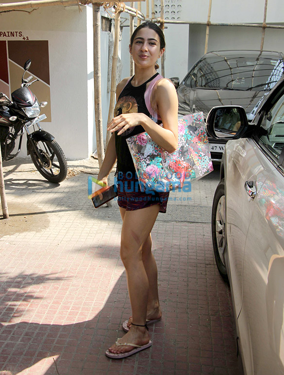 Sara Ali Khan spotted outside the gym in Bandra