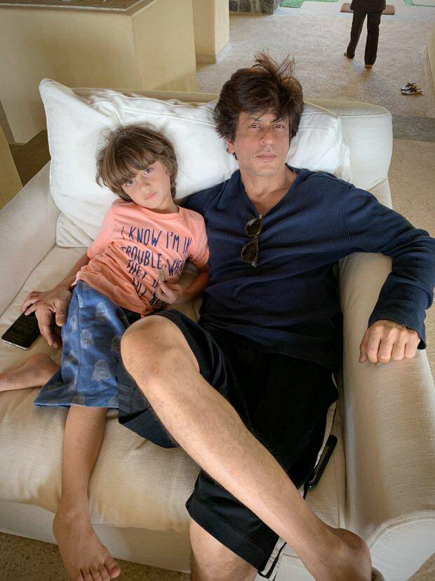 Shah Rukh Khan and AbRam Khan have a lazy weekend