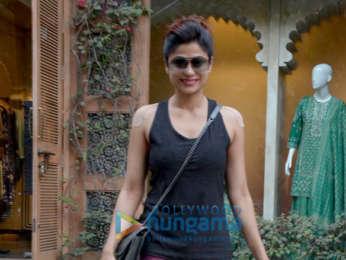 Shamita Shetty snapped at the Anita Dongre store in Khar