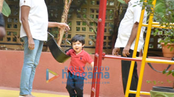 Taimur Ali Khan and Innaya Naumi Kemmu snapped at play school in Bandra