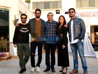 Vicky Kaushal, Yami Gautam and Paresh Rawal snapped promoting Uri in Juhu