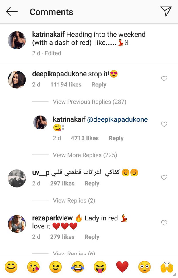 Katrina Kaif shares a RED HOT insta-video and Deepika Padukone just can't handle it