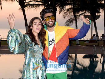 Alia Bhatt and Ranveer Singh snapped during promotions of 'Gully Boy' at Novotel, Juhu