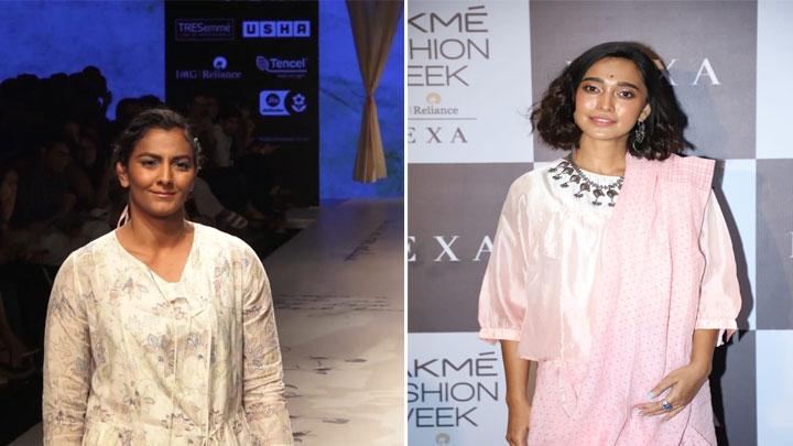 Athlete Geeta Phogat and Sayani Gupta on Ramp at Lakme Fashion Week Day 3