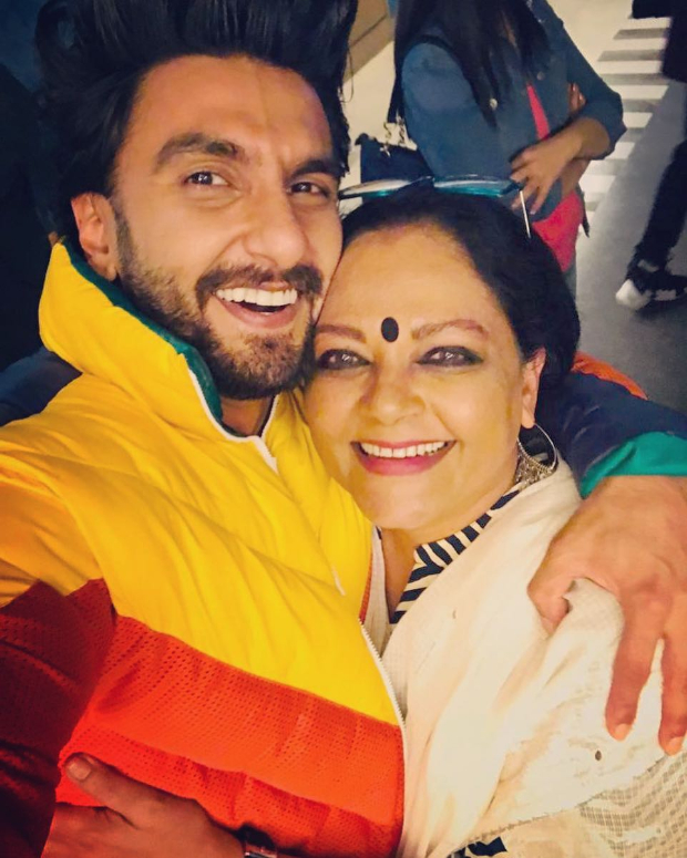Bajirao Mastani Reunion! Ranveer Singh can't stop smiling as he reunites with on-screen mother Tanvi Azmi at Gully Boy screening