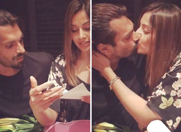 Valentine's Day Special - Bipasha Basu thanks hubby Karan Singh Grover with the sweetest KISS for his love scroll!