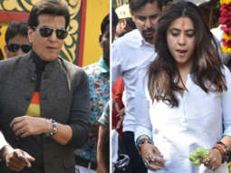Ekta Kapoor and Jeetendra SPOTTED at Juhu Temple (2)