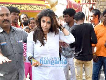 Ekta Kapoor and Jeetendra spotted at Shani Temple, Juhu