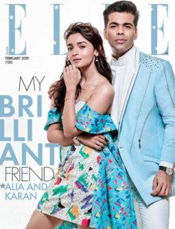 Alia Bhatt, Karan Johar On The Cover Of Elle