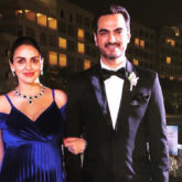 Esha Deol looks all things gorgeous dressed for a family wedding accompanied by husband, Bharat Takhtani