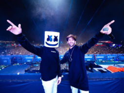 PHOTOS! Kartik Aaryan grooves to 'Coca Cola' with DJ Marshmello at a concert