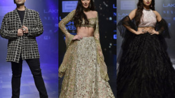 Karan Johar, Isabelle Kaif, Bhumi Pednekar for Shehlaa Khan at LFW 2019 Summer_Resort (Featured)