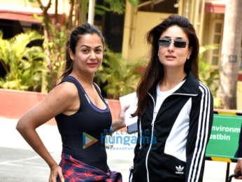 Kareena Kapoor Khan and Amrita Arora spotted outside the gym in Bandra
