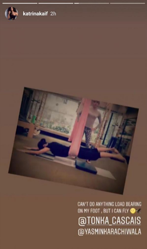 Katrina Kaif redefines dedication as she attends her Pilates' session despite her injury